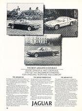 1984 Jaguar XJS XJ6 2-page - Original Car Advertisement Print Ad J166