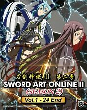 Sword Art Online Season 2 Vol.1-24 End Copyright Original Anime DVD Box Set