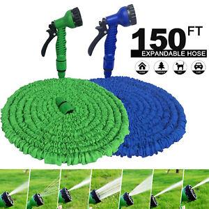 Extra Long Retractable Garden Hose Pipe Expandable Heavy Duty Water Spray Gun UK