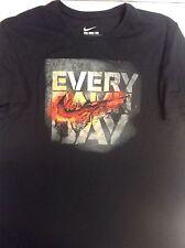"NWT XL MEN'S Nike Athletic T Shirt Dri Fit ""EVERY DAMN DAY"" BLACK SHORT SLEEVE"
