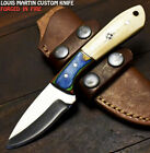 Louis Martin Handmade D2 Tool Steel Camel Bone Art Hunting Skinner Knife