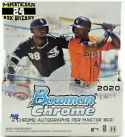 2020 BOWMAN CHROME BASEBALL CARDS MLB HOBBY BOX LIVE BREAK #3824 | 2 AUTOS |READ