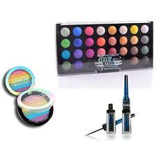 KLEANCOLOR Set of Eyeshadow Palette Rainbow Highlighter Black Precision Eyeliner