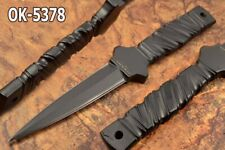 "9.1"" BLACK  BULL 10 MM THICK DC-53 STEEL INTEGRAL BOOT KNIFE DAGGER OK-5378"