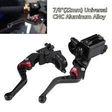 Black 22mm CNC Aluminum Motorcycle Brake Clutch Master Cylinder Reservoir Levers