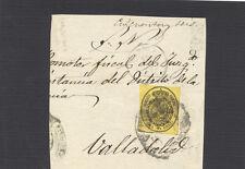 Valladolid. Año 1863. Frontal con sello. 1/2 onza. Tamaño 75 x 85 mm.