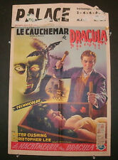 HORROR OF DRACULA - CHRISTOPHER LEE FIRST RELEASE BELGIAN 14 X 22 INCH POSTER!
