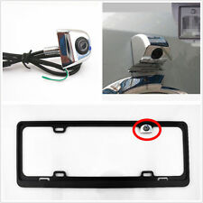 Concealed Chrome Car Rear Reverse Backup Parking Camera on License Plate Frame