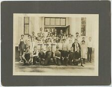 Omaha Nebraska School Class Photo circa 1915 on card, creased but stable