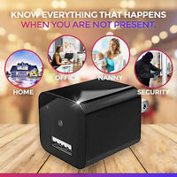 32GB HD 1080P Mini Camera Wall Plug Adapter USB Charger DVR Cam Motion Detection