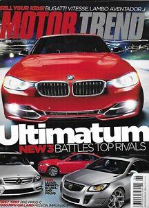 Motor Trend Auto Magazine Sport Sedans Lexus Infiniti Acura Volvo Bugatti 2012