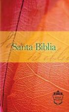 Reina Valera Compact Bible Orange/Red Leaf Santa Biblia Spanish Edition