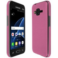 Skinomi Pink Carbon Fiber Skin+Screen Protector For Samsung Galaxy J1 Mini Prime