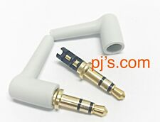 3 Pole 3.5mm 90 Degree Male Stereo Headphone Replacement Jack Plug Audio x 1pc