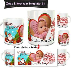 Personalised Xmas Gift Mug Happy Xmas & New Year Daddy, Grand, Mum Mug Temp Xm 1