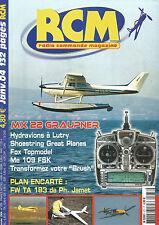 RCM N°273 PLAN :FOCK WULF TA 183 / MX 22 GRAUPNER / HYDRAVION/ ME 109 FSK / FOX