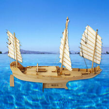 1:148 Scale Wooden Wood Sailboat Ship Kits Home Model Decoration Boat Gift Toy
