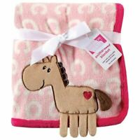 Hudson Baby Girl Coral Fleece 3-D Animal Blanket, Pink
