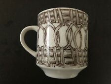 Schmid Design Folio China Brown Wicker & Circles - Coffee / Tea Cup