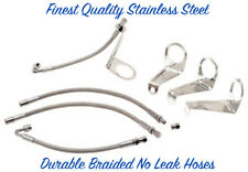 "19.5""-24.5"" WHEEL VALVE STEM EXTENSION HOSE KIT STAINLESS FOR WHEEL COVERS ©"