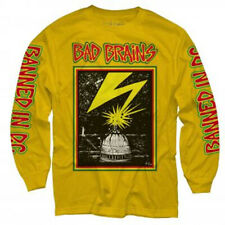 Bad Brains-Capitol -Lightning- Large Yellow Gold Longsleeve T-shirt