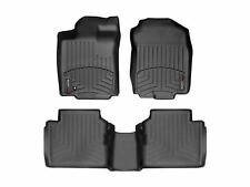 WeatherTech FloorLiner for Lincoln MKZ / Ford Fusion 1st 2nd Row Black