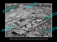 OLD LARGE HISTORIC PHOTO HEBBURN ENGLAND AERIAL VIEW REYROLLE WORKS c1950
