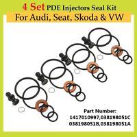4 Set PDE Injectors Seal Kit Black For Audi Seat Skoda VW #1417010997