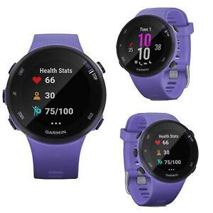 Garmin Forerunner  FR 45S Purple Smart GPS HRM Sport Running Cycling Smart Watch