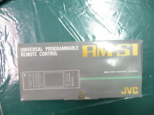 VINTAGE JVC RM-S1 UNIVERSAL PROGRAMMABLE REMOTE CONTROL (NIB)