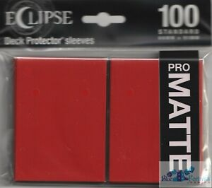 100 PRO-MATTE ECLIPSE Apple Red DECK PROTECTOR CARD SLEEVES FOR MTG ULTRA PRO