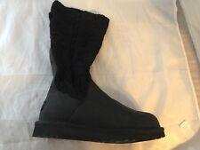 New UGG Australia Cassidee Black Leather Boots, Women Size 5, $170 missing belts