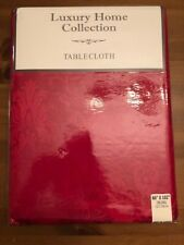 NEW Ruby Red Damask Tablecloth Oblong 60x102  - Luxury Home Collection