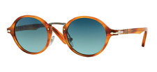 New Persol Sunglasses PO 3129S 960/S3 Polarized Striped Havana With Case/Tags