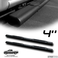 "4"" Matte Blk Oval Side Step Nerf Bar Running Board 99-13 Chevy Silverado Ext Cab"