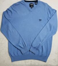 CHAPS Cotton/Cashmere Blend Long Sleeve Blue Sweater Men's Size Medium EUC