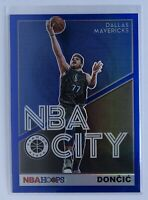 2019-2020 NBA Hoops Premium Stock Luka Doncic NBA City Blue Prizm Mavs IN HAND