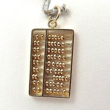 14K Gold 3D Math Abacus Articulated Charm Pendant 2.6gr