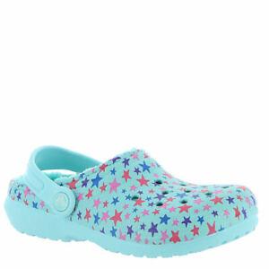Crocs Size C 4 C4 Blue Lined Clogs New Toddler Kids Shoes