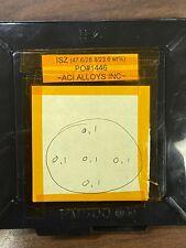 Isz sputter target 3in diameter x 1/4in bonded to Cu, Used, Aci Alloys