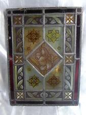ANCIEN VITRAIL ART NOUVEAU FLEUR VITRAUX CADRE ARCHITECTURE STAINED GLASS