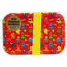 Eco-friendly Bamboo Fibre Monsters Red Lunch Box Bento Food BPA-Free Durable New
