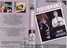 PERFORMANCE - Mick Jagger  VHS - PAL - NEW - Never played! - Original Oz release
