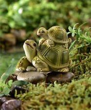 Miniature FAIRY GARDEN Figurine ~ Mini Tortoise Pair ~ We're in This Together