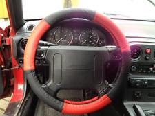 Lenkrad Bezug echtes Leder rot-schwarz für Lenkräder von 37 - 39 cm Durchmesser