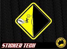 WARNING FALLING ROCK CLIMBING CLIMBER STICKER DECAL SUITS BLACK DIAMOND PETZL