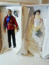 Danbury Mint Prince William & Princess Kate Collectable Royal Wedding Doll's