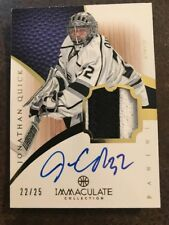JONATHAN QUICK 2012/13 IMMACULATE COLLECTION AUTOGRAPH 2 COLOR PATCH AUTO /25