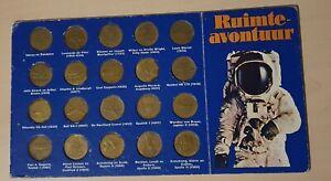 Vintage SHELL OIL coins Aviation History Astronaut Airplane Hot Air Balloon 1969