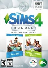 The Sims 4 Bundle- Spa Day and Perfect Patio Stuff Expansion Pack